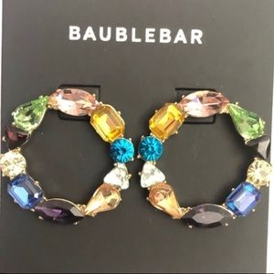 NWOT Bauble Bar Chevron Hoop Earrings
